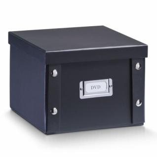 2x ZELLER DVD BOX mit DECKEL schwarz für 26 DVD's AUFBEWAHRUNG KISTE KARTON CASE
