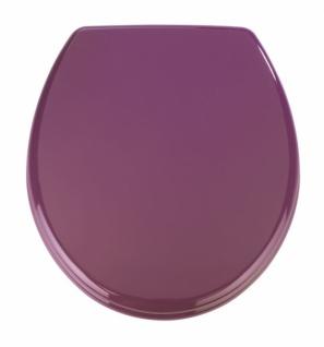 "WENKO WC Sitz "" Prima"", lila, im Retro Style, Toiletten Klo Deckel Sitz Brille"