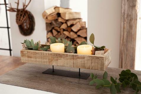 Deko Board aus recyceltem Holz, rustikal, Kerzen Halter Obst Schale Tablett