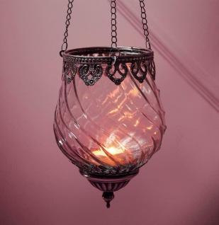 """Windlicht Hänger """" Orient"""" Glas & Metall Teelicht & Kerzen Halter zum Aufhängen"""