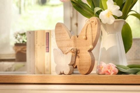 Deko 'Schmetterlinge? aus Holz natur Butterfly Figur Frühlings Tisch Objekt