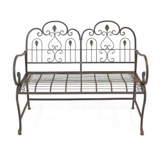 "Sitzbank "" Provence"" aus Metall, braun im Antik Design, Gartenbank, Parkbank - Vorschau 3"