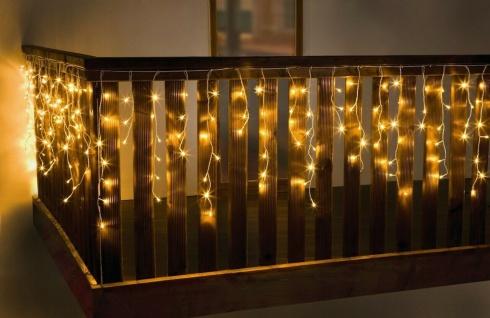 """LED Lichter Vorhang ?White"""" warmweiß Schlauch außen Weihnachten Kette"""