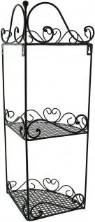 """Eckregal """" Ranken"""" aus Metall, schwarz, 3 Ebenen, Hänge Wand Stand Eck Regal - Vorschau 4"""