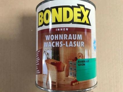 Bondex Wohnraum Wachs Lasur, emerald grün, 0, 75 Liter Holz Schutz 10, 6€/L - Vorschau 3