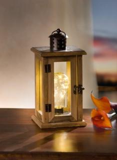 LED LATERNE 'Glühbirne? aus HOLZ LICHT EFFEKTEN WINDLICHT LAMPE LEUCHTE