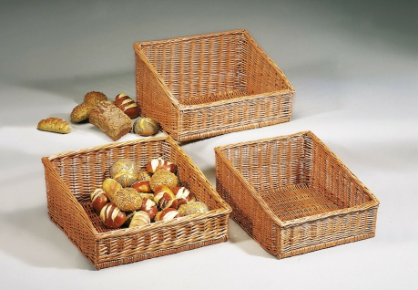 Brot Korb aus Weide, 50x50 cm, Servier Lager Buffet Auslage Regal Aufbewahrung