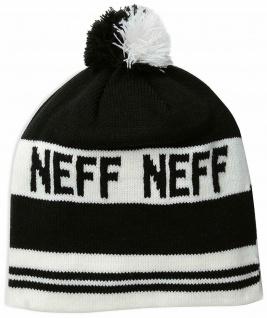 NEFF Classic Mütze, Beanie, schwarz weiß, Universal Größe, Strickmütze, Bommel