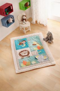 """Krabbel Decke """" Zoo"""" im Patchwork Style, 90x125 cm, Kinder Baby Spiel Erlebnis"""