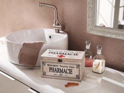 "Shabby Holz Kiste "" Pharmacie"", Erste Hilfe Arznei Medizin Aufbewahrung Schrank"