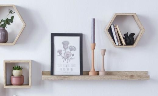 "Board "" Eiche"", 70 cm lang, MDF in Holz Optik, Wand Deko Hänge Regal"