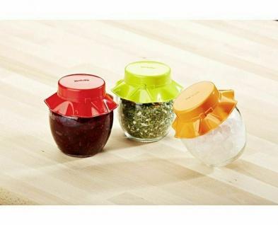9 Vorrats Gläser mit Deckel, bunt, Gewürz Marmeladen Aufbewahrung Dosen Behälter