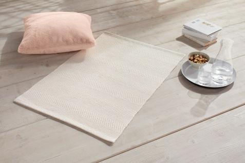 Boden Matte 60x90 cm, creme, 50% Baumwolle, Bad Bett Vorleger Web Teppich Läufer