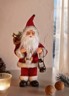 Deko Figur Santa mit Laterne Weihnachtsmann Nikolaus Weihnachten Weihnachtsdeko