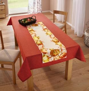 """Tisch Decke """" Vulkanrot"""" 135x240 cm, rot, Deko Tafel Wäsche Tuch Weihnachten"""