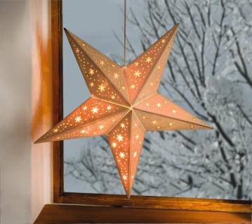 Beleuchteter Stern aus Holz, mit Lichterkette, Weihnachts Fenster Leucht Deko