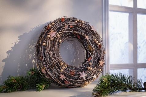 Dekokranz 'Kupfergold? Kranz Natur Wand Tür Weihnachten Weihnachtsdeko Hänger