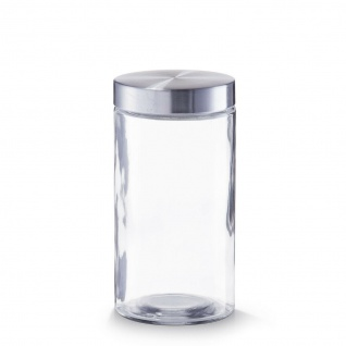 6 Zeller Vorrats Gläser 1600 ml mit Edelstahl Deckel, Dose Behälter Glas Set