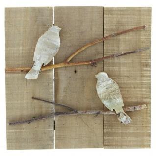 """Wandbild ?Vögelchen"""" aus Holz Wand Bild Deko Schmuck Hänger"""