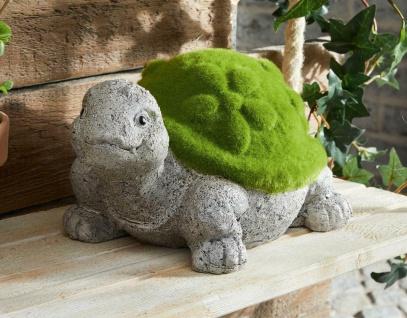 """Schildkröte """" Moos"""" Stein Optik, Garten Deko Figur Outdoor Statue Tier Skulptur"""
