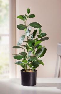 """Kunst Pflanze """" Green"""" im Topf, 48 cm hoch, Büro Zier Deko Zimmer Baum Bäumchen"""