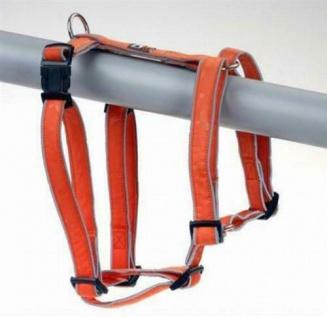 """Hunter Nylon Hunde Brust Geschirr """" Vario Rapid"""" orange reflektierend, Gr. L"""