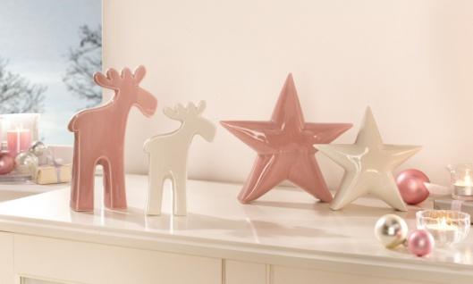 2er Deko Stern 'Malve? Porzellan Weihnachten Weihnachtsstern Deko Figur