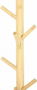"""Flur Wand Garderobe """" Bambus"""" mit 11 Haken Vintage Natur Massiv Holz Leiste braun - Vorschau 3"""