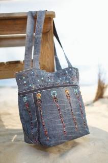 """Tasche """" Hippie"""" aus Jeans, Handarbeit UNIKAT Damen Henkel Handtasche Shopper"""
