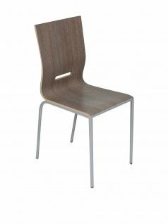 """Design Stuhl """" Manu66"""" eiche / grau von EVERGREEN HOME, Küchen Esszimmer"""
