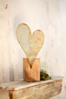 Deko Säule 'Rusty Heart? aus Metall Ständer Podest Stütze Objekt Tisch Herz