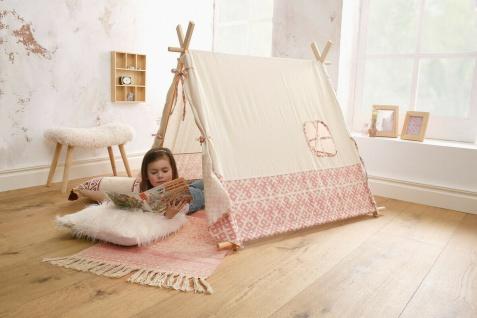 """Spielzelt ?Sioux"""" aus Holz + Textil Kinder Zelt Wigwam Indianer Tipi"""