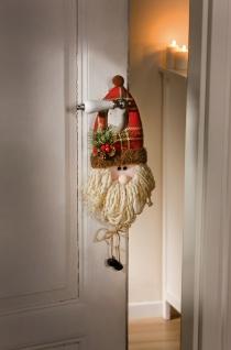 """Tür Hänger """" Santa"""" Weihnachtsmann Nikolaus Gesicht Kopf Hänge Deko Figur"""