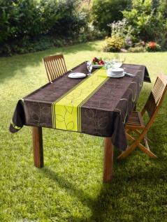 """Tischdecke """" Outdoor"""" 148x240 braun / grün wetterfest Garten Terrasse Tafel Decke"""