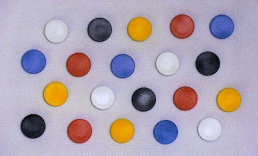 50 STÜCK runde 12mm NOBO HAFTMAGNETE 5 Farben 100g MEMOBOARD WHITEBOARD MAGNETE