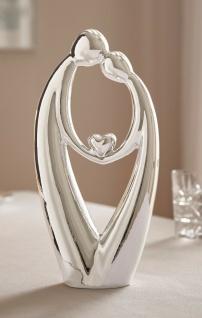 """Deko Figur """" Liebe"""" aus Porzellan mit Spiegel Effekt, Hochzeit Skulptur Statue"""