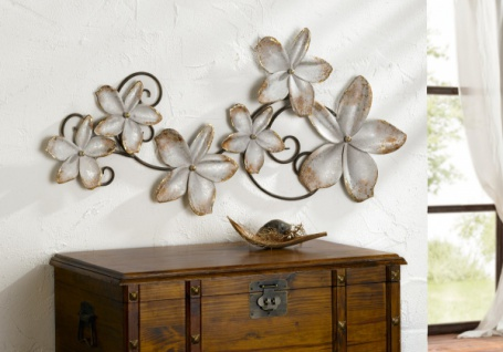 Wand Objekt 'Blumen? aus Metall Bild Deko Schmuck Hänger Dekoration Verzierung