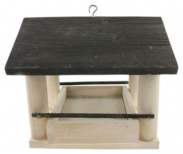 Vogelfutter Haus aus Holz, Kiefer, Vogel Futter Häuschen Villa Spender Station - Vorschau 2