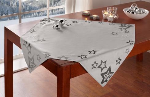 Tischdecke 'Modern Stars? 85x85 cm Tisch Deko Band Läufer Weihnachten Sterne