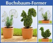 2er Set WENKO Buchsbaum Former Eichhörnchen + Vogel Garten Pflanzen Figur Form