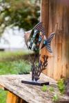 Metall Deko 'Fisch? Tisch Garten Terrasse Objekt Figur Skulptur stehend