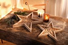 2er Windlicht 'Schneegestöber? Glas Kerzen Halter Ständer Teelicht Weihnachten