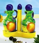 Essig & Öl Flaschen Set aus Keramik Menage Oil & Vinegar Spender Kanne Kännchen