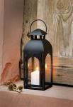 Laterne 'Modern Shape? aus Metall Windlicht Deko Kerzen Halter Ständer Garten