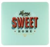"""WENKO GLAS SCHNEIDBRETT """" Sweet Home"""" 50x56 cm HERD ABDECKPLATTE SPRITZSCHUTZ"""