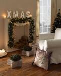 """Tannen Girlande """" Winterwald"""" mit Lichterkette, Weihnachts Fenster Tisch Deko"""