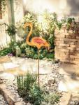 GARTENSTECKER 'Flamingo' BLUMENSTECKER METALLSTECKER GARTENDEKO GARTEN