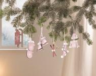 6er Hänger 'Wintersport? Holz Deko Weihnachten Weihnachsstern Schmuck Verzierung
