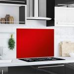 """Küchen Rückwand """" Red Splash"""" aus Glas rot, 90x65 Herd Spüle Spritz Schutz Platte"""