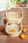 """Bügelkorb """" Zopfrand"""" groß aus Weide Obst Trage Picknick Geschenk Präsent Korb"""